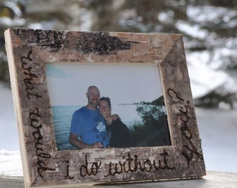 5th anniversary gift wood anniversary gift wedding gift 5 year anniversary gift for him gift for her personalized gift rustic picture frame