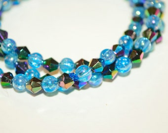 Three Strand Twilight Beaded Bracelet