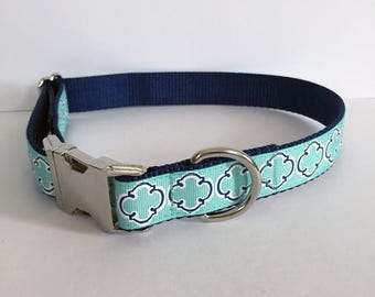 Turquoise and Navy Collar