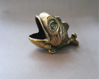 A Notional Fish, made of pure brass, with a gaping mouth which would be an excellent paperweight, or could house a night light