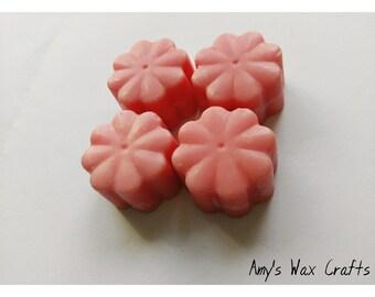 4, Flower, Shape, Pink, Cherry Bakewell, Scented, Wax Melts