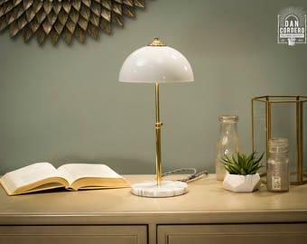 Marble Base Lamp   Brass   Table Lamp   Desk Lamp   Bedside Light   Night Light   Marble   Lamp   Edison Bulb   Modern