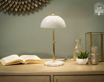 Marble Base Lamp | Brass | Table Lamp | Desk Lamp | Bedside Light | Night