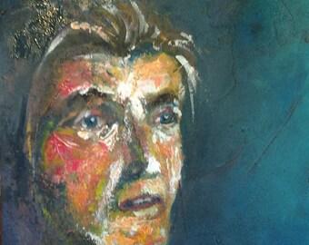 Woman portrait - acrylic painting