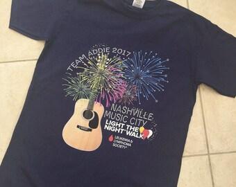 Team Addie LLS Nashville Fundraising T Shirt