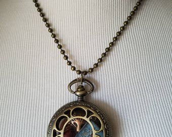 Little Red Riding Hood Pocket Watch Locket Necklace