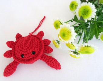 Mobile-bright red crab