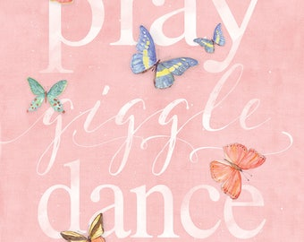 Play Giggle Dance - Let Them Be Little  12x16 PRINT
