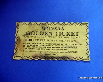 Chocolate Factory Golden Ticket Prop Replica (classic)