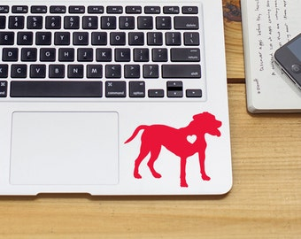 Pit Bull sticker iPhone Car Laptop Vinyl Decal Sticker pitbull sticker dog decal pit bull decal with heart