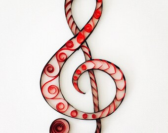 Quilled Art - Treble Clef