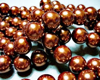 Glass Pearls Copper 8MM