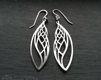 Golden Ratio Earrings - handcut sterling silver