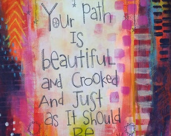 Your Path is Beautiful - 8x10 Art Print