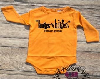 Halloween Monogram Tshirt Trick or treat Orange and black Youth Kid Child Unisex Cotton  t-shirt vinyl pumpkin spice fall autumn