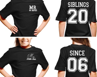 Siblings Since Shirts, Brother and Sister Shirts, Together Since tshirts, Mr. and Mrs. Shirt Set, Brothers Shirts, Sisters Shirts,