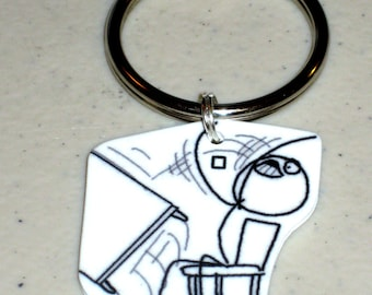 Table Flip Meme - Internet Meme Keychain, Necklace, Earrings, Charm, Stickers, Tattoos, Embroidered Patch, Magnets