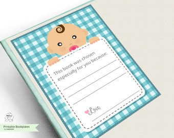 Printable Bookplates For Baby Shower Bookplates Printable Bookplates ...