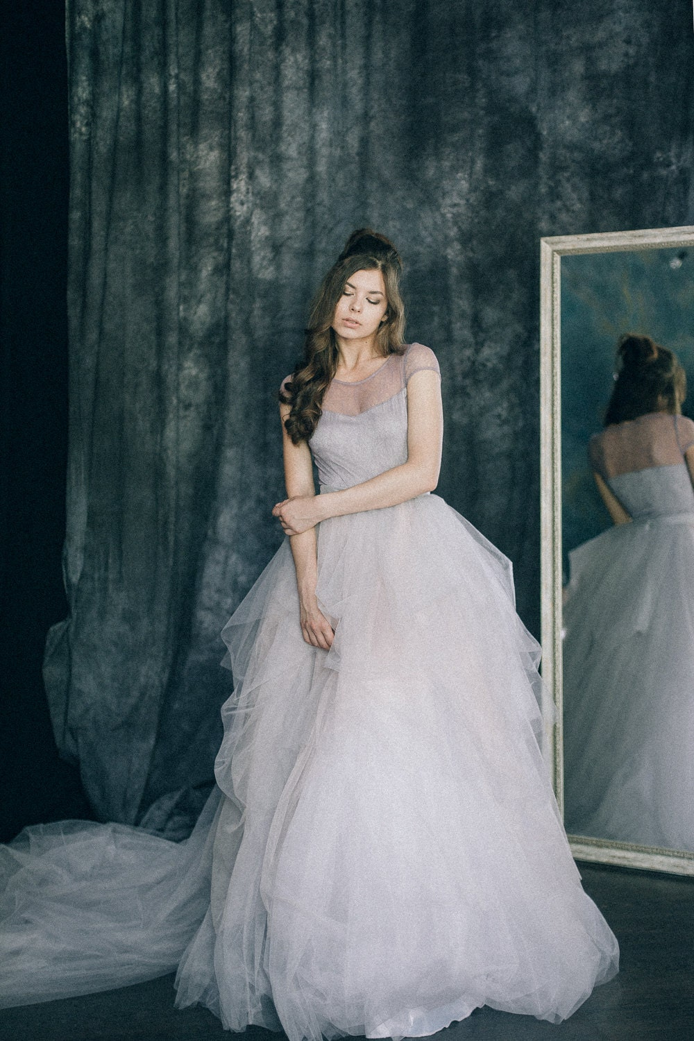 Wedding dress dusty lavender light lilac grey zoom junglespirit Image collections