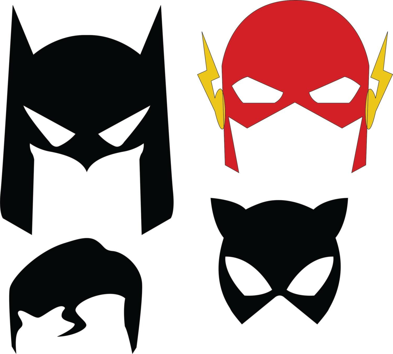 Dc superhero masks svg dxf files for Maschera di flash da colorare
