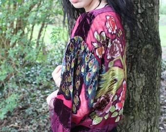 Kimono, Boho Kimono, Gift For Her, Sheer Kimono, Coverup, Boho Chic, Tassel Jacket, Boho Clothing Women, Bridal Kimono, Wedding Kimono