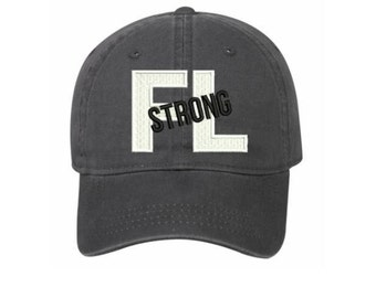 FLORIDA STRONG - FL Strong Baseball Hats - Support Hurricane Irma Relief Efforts