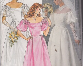 Butterick 3136 Misses'/ Misses'  Petite Wedding Dress Size 14 Vintage UNCUT Pattern Rare and OOP