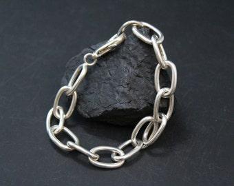RESERVED: Sterling Silver Large Cable Link Bracelet