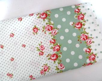 Cotton fabric, Japanese fabric, Red roses, Lolita fabric, Quilt fabric, Retro fabric, Vintage style fabric, DIY crafts, 1 yard FB138
