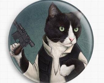 Needle Minder, Licensed Art By Jenny Parks - Han Solo, Cross Stitch Keeper, Fridge Magnet