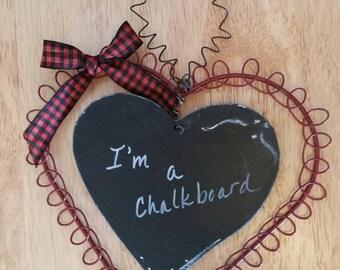 Metal Heart Chalkboard