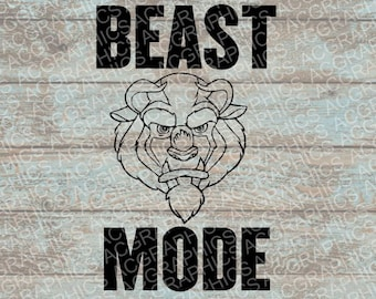 Beast Mode SVG, DXF, JPEG, and Studio Downloads