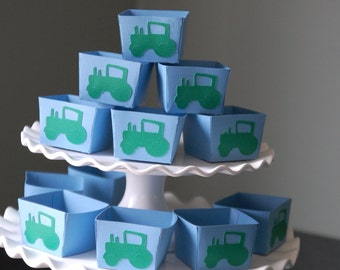 Tractor Candy Cups, Tractor, Birthday, Green Tractor Baby Shower, Decorations, 12 Pcs