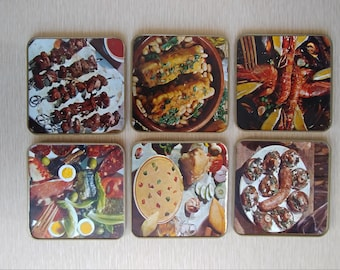"""Vintage Drink """"Foodie"""" Coasters"""