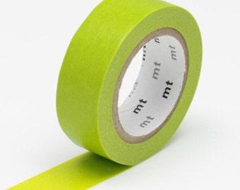 Green Washi Tape • MT Masking Tape Washi Tape • Yellow Green • Washi Tape UK • Japanese stationery • Wakanae