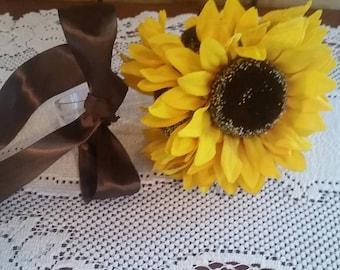 Sunflower pew decoration