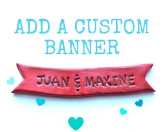Customizable Cake Topper Banner