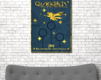 Harry potter poster, quidditch, harry potter print, harry potter art, harry potter gift, harry potter décor, Hogwarts, harry potter movie