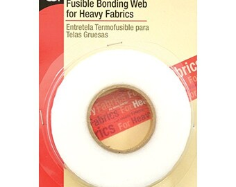 """Fusible Bonding Tape for Heavy Fabrics Iron On Adhesive 13 yd x 5/8"""" FREE SHIPPING"""