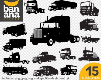 SALE Truck Silhouettes png jpg svg eps files high resolution BV-VE-0013