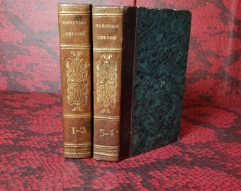 Adventures of Robinson Crusoe - Decorative Books in French from 1834