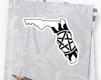 Vinyl Sticker - Florida Supernatural State