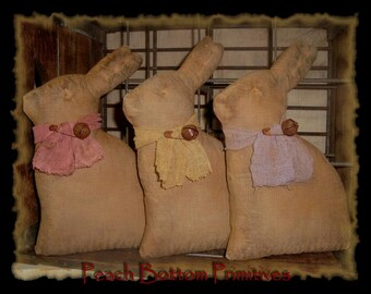 ePattern~Primitive Easter Bunny Bowl Fillers-Tucks Dolls