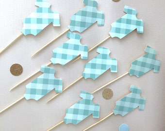 Baby shower Cup Cake Toppers / Set of 12 / Cupcake topper / Cake topper/ Baby Shower