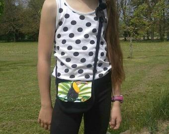 """The little one """"summer handbag - Mapluce - Toucan"""" for girl."""