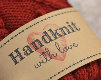 Handknit with Love printable gift tag