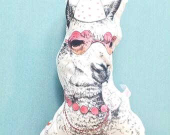 Llama Pillow, Llama Lovers Gift, Alpaca Plushie, Handmade Alpaca Pillow, Animal Home Decor, Decorative Stuffed Throw Pillow