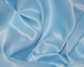 """5 yards BABY BLUE Charmeuse Satin Fabric 60"""" wide By the Yard for wedding dresses, decorations, drapes, crafts"""