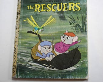 Vintage Children's Book, The Rescuers, Little Golden Book