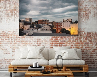 Stormy Athens, Georgia, Downtown City Scape, North Ga Travel Photography, Urban Wall Art Photograph and Fine Art Photography Print
